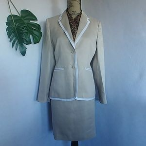 Brooks Brothers Women's Linen Blazer Skirt Suit